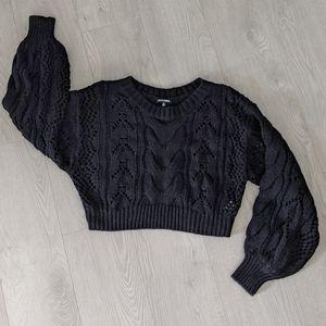 Fashion Nova Knit Cropped Baloon Sleeve Sweater